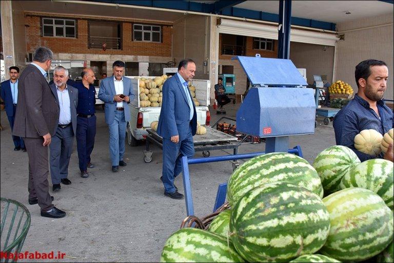 بازدید از میدان میوه و تره بار نجف آباد