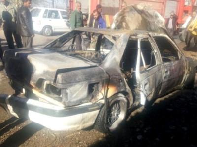 خودروی سواری در نجف آباد آتش گرفت