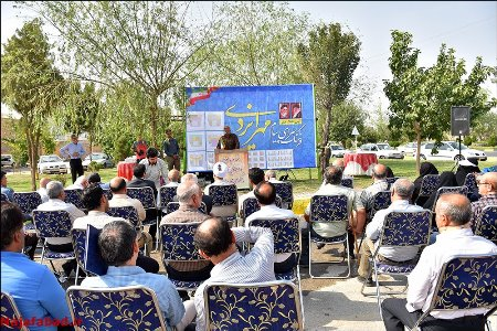 مراسم کلنگ زنی موسسه خیریه پیام مهر ایزدی