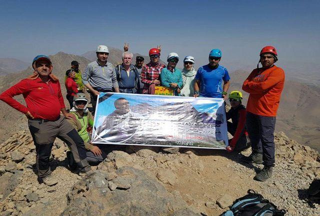 صعود به قله 3813 متری کول جنو توسط هیأت کوهنوردی شهرستان نجف آباد