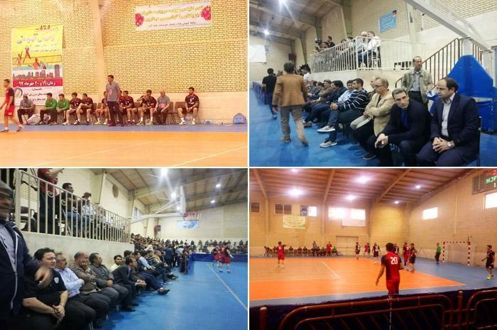 اولین دیدار تیم هندبال شهرستان نجف آباد