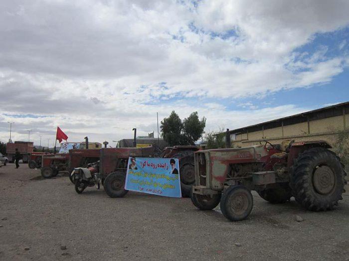 تجمع اعتراضی کشاورزان در نجف آباد