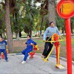 تصاویر ورزش صبحگاهی در پارک لاله نجف آباد