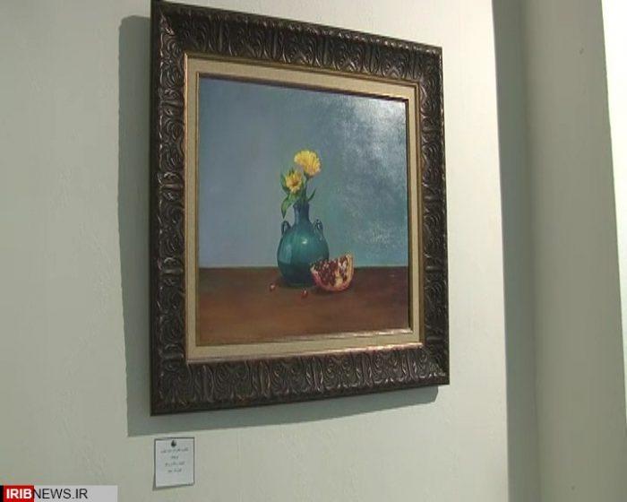 گشایش نمایشگاه آثار نقاشی بانوی هنرمند نجف آبادی