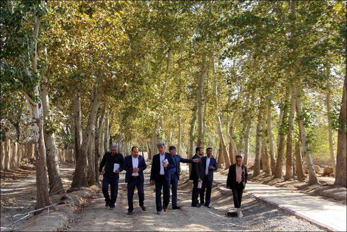 بازدید از احیاء محور تفریحی بوستان زندگی در نجف آباد