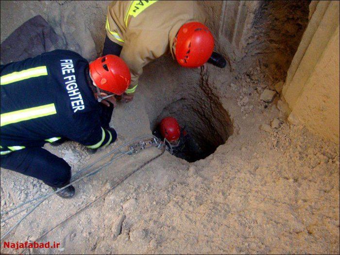 نجات پیرمردی از چاه پس از دور روز
