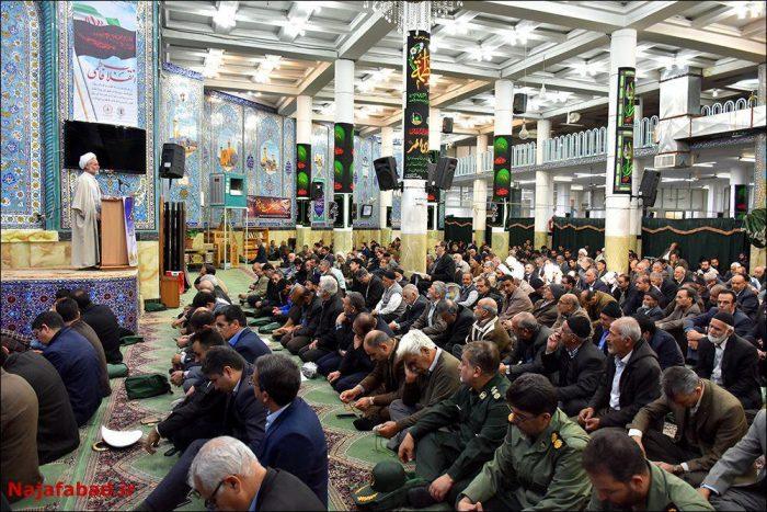 تجدید میثاق با آرمان های امام راحل(ره) و شرکت در نماز جمعه نجف آباد