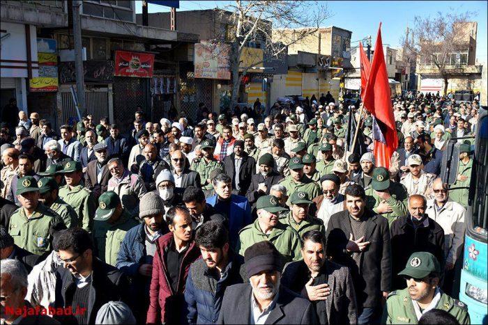 تشییع سه پاسدار شهید در نجف آباد