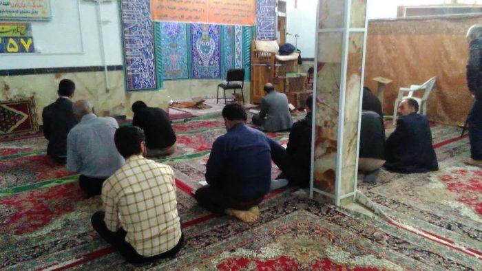 اعتکاف مسجد مهدیه شهر گلدشت