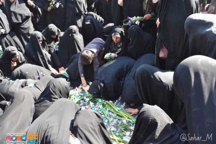 تشییع شهید گمنام در پادگان عاشورا