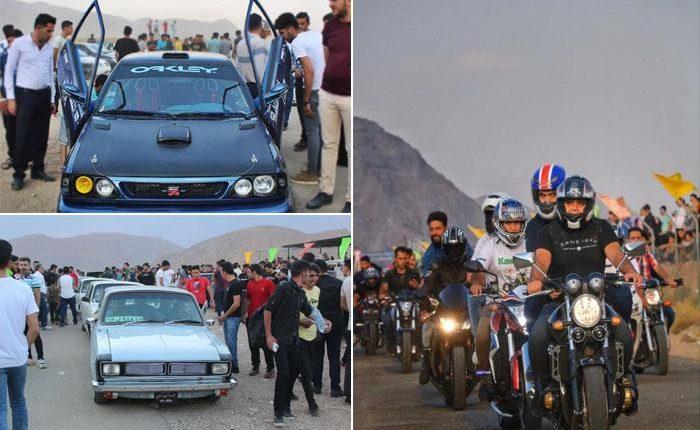 تصاویر موتورسواری و اتومبیلرانی در نجف آباد