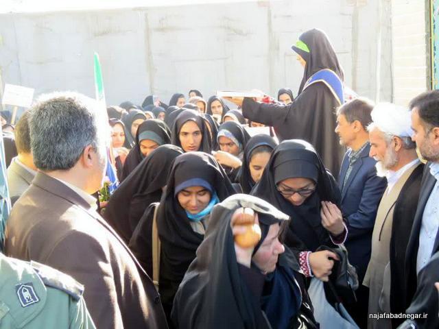 اعزام راهیان نور دختران دانش آموز نجفآباد 98 مزار شهید حججی