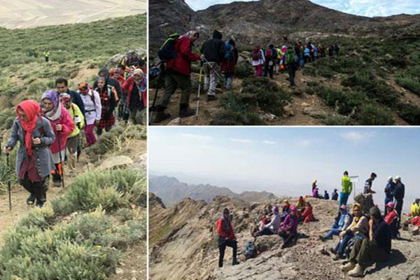 صعود شبانه کوهنوردان نجف آباد به قله دالانکوه