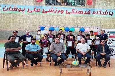 اهدای جوایز تیم ملی پوشان نجف آباد، نایب قهرمان لیگ فوتسال استان .